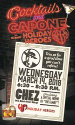 Benefiting Holiday Heroes on Mar. 14 at Chez