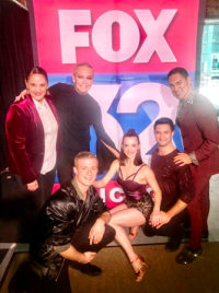 (L to R) Giordano Dance Chicago's Nan Giordano, Ryan Galloway, Natasha Overturff Denny, Zachary Heller and Cesar Salinas