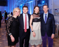 Event co-chairs Roxy Goebel, Tommy Miller, Wendy Franzen and event chair Patrick Wood-Prince