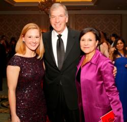 Susan Lape, Dr. Bryan Traubert and Penny Pritzker