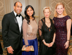Saurab and Anjani Bargava, Jamie Bernstein and Susan Lape