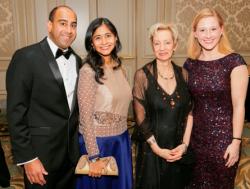 Saurab and Anjani Bargava, Jamie Bernstein and Susan Lape