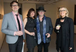 Hyde Park Art Center director of development Aaron Rodgers, Christine and James Forni, honoree Anne Wilson