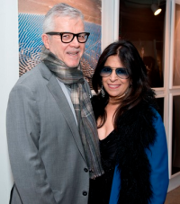 Fashion designer and SAIC alum Maria Pinto with Don Woerner