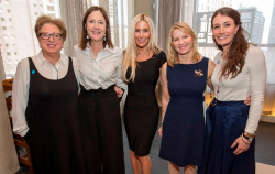 Caryl Stern, Martha Metz, Susie Silich, Tina Trott and Beth McCostlin