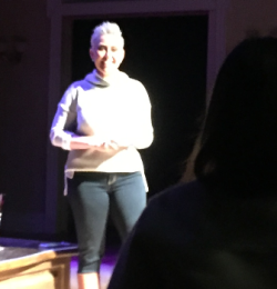 Laura's proposal to Susan onstage at Lookingglass Theater