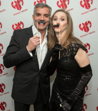 Jim Karas and event chair Felicia Winiecki