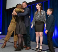 IDF Staff Sgt. Ori Kulbak surprised his family in an onstage reunion (Photo by Steven Donisch)