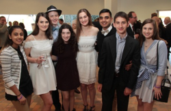 Hands of Peace program alumni Nabaa Khan, Mackenzie Lyons, Sam Weinbert, Sarah Fox, Gabrielle Morrison, Mohammed Manzoor, Jared Hoffman and Brigid Murphy