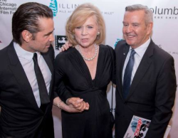 Colin Farrell, Liv Ullman and Festival founder/artistic director Michael Kutza