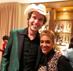 Kimbal Musk and Linda Johnson Rice (Linda's Insta--follow her!)