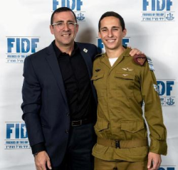 IDF Staff Sgt. Ori Kulbak (R) and his father Shlomo Kulbak (Photo by Jeff Ellis).
