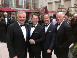 Handsome men Bob Zec, Peter Martino, Cary Frank and Chuck Jordan