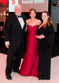 CZS president/CEO Dr. Stuart Strahl; CZS WB member/ event chair Elisa Templeton and CZS WB president Sasha Gerritson