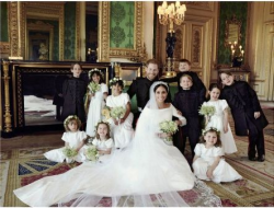 The bride had 10 bridesmaids and pageboys including Princess Charlotte and Prince George. (Photo by Alexi Lubomirski)