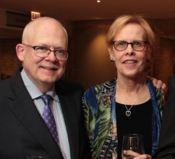 Tom  Aldrich (chair of the Hands of Peace Board of Directors) and his wife Karen