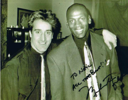 BJ Murray with Michael Jordan at a Chicago hotspot