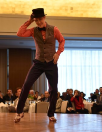"Tap dancer Matt Crowle performs ""A Shine on Your Shoes."""