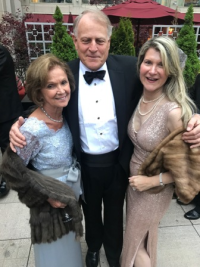 Myra Reilly with Bill and Cathy Bartholomay