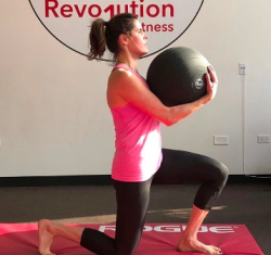 Nicole Jacob Delahanty working out at Revolution 1
