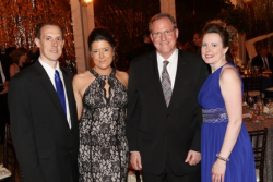 Brian Schmidt (president, Mr. David's Foundation Board), Sherri McKinney, Kevin Isken and Shannon Schmidt