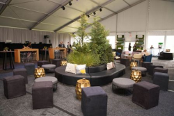 Decor on Northerly Island for the 60th anniversary Nature Conservancy gala