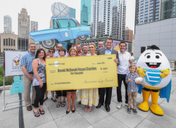 The American Egg Board (AEB) presented a check for $10K to RMHC