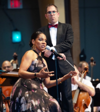 6 time Tony Award winner Audra McDonald with conductor Andy Einhorn