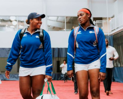 Sloane Stephens (R), 2017 U.S. Open Champ, and friend