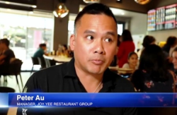 Peter Au, Joy Yee Restaurant Group manager, on Windy City Live segment.
