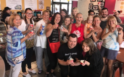 """A few of the """"sweet"""" and satisfied customers for the Chicago Tribune/ Eli's Cheesecake Food Bowl!"""