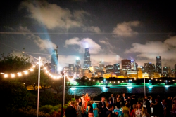 Shedd BLU party on Sick Family Terrace