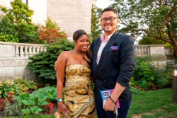 Crystal Peters and Gregory Curtis Jr. (Shedd Aux. Board member)