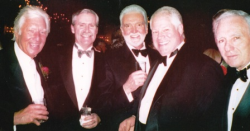 Chicago's first White Party organizers' party in NY for the famous Christmas Party--with founders Whitey Pearson and Jim Riley, along with Chuck and Tom Carey