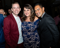 Joshua Blake Carter, choreographer of Nomi Dance Company's Dance for Life work Kim; Dance for Life 2018 honoree and Giordano Dance Chicago Artistic Director Nan Giordano; Cesar G. Salinas