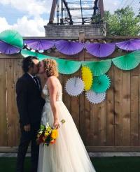 Newlyweds Kristan Lieb and Ben Chlapek