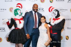 """Israel """"Izzy"""" Idonije with his cute GF and the magic of Seuss."""