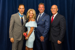 Sherry Lea and Rick Holson, past gala co-chairs, with Medal of Honor recipient Britt Slabinski, USN, (Ret.), Richard Porter, Retired Vice Admiral (SEAL) Robert S. Harward, Jr.