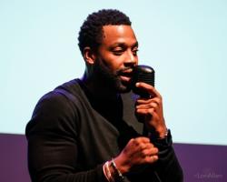 Event host LaRoyce Hawkins (Chicago PD star)