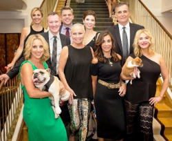 Haute Dog host committee--Katy Sandberg, Angie DeMars, Phillip Emigh, Bruce Haas, chair Katie Platis, Bob and Renata Block, Tracey Tarantino (show producer) and moi.