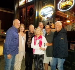 With Gregg and Cindy Groce, Aunt Lora Stott, Conan and Mark Stott and Chuck