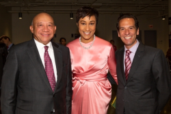 Elzie Higginbottom (ASM board treasurer) with ASM advisory board members Desiree Rogers and Neal Zucker