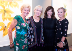 ACE show director Liz Dauten, Glenda Wulfsohn, Tracey Buchman and Julie Engelman all with Twigs & Bloom, providers of the evening's floral arrangements.