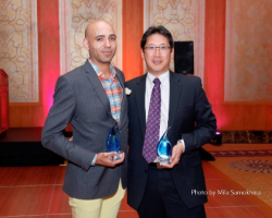 Eversight Illinois Visionary Award recipients Marco Foster and Dr. Elmer Tu.
