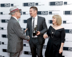 Richard and Ellen Sandor with honoree Ethan Hawke