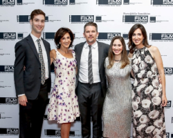 Marlene Iglitzen and her family with Ethan Hawke
