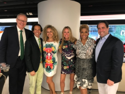 Chicago Gateway Green's Grant DePorter with GTB committee members Neal Zucker, Beth Heller, Jacky Ferro, Linda Johnson Rice and Marko Iglendza