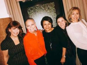 With event co-host Kathleen Kenehan Henson, Dorian Carter, Kara Bachman and Abigail Zoe Martin