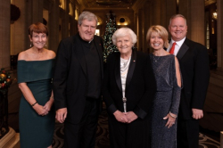 Mary Pat O'Brien, Fr. Jack Clair, Sr. Rosemary Connelly, Lois Gates, Kevin Connelly (Misericordia Executive Team)