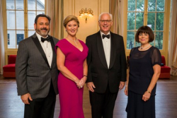 Symphony Ball 2018 co-chairs: Casey Herman and his wife Leigh Ann Herman (WB member and Symphony Ball 2018 co-chair), David E. McNeel (CSOA Life Trustee) and Donna L. Kendall (CSOA Trustee)